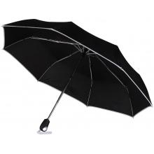 Зонт складной Уоки, черный/белый (Р)