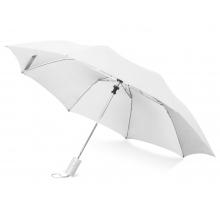 Зонт складной Tulsa, полуавтоматический, 2 сложения, с чехлом, белый