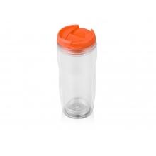 Термокружка Mony 400мл, прозрачный/оранжевый