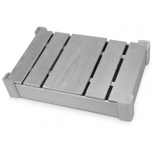 Подарочная деревянная коробка, серебристый