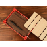 Подарочная деревянная коробка, красный, красный/натуральный, дерево