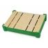 Подарочная деревянная коробка, зеленый, зеленый/натуральный, дерево