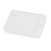 Коробка для флеш-карт «Cell» в шубере, белый прозрачный