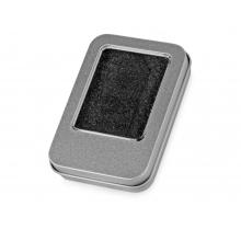 Коробка для флеш-карт «Этан» в шубере, серебристый