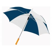 Зонт-трость Lisa полуавтомат 23, синий/белый