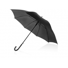 Зонт-трость полуавтоматический с пластиковой ручкой, черный