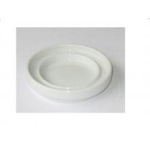 0949 Блюдце белое, круглое