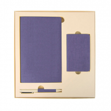 Набор подарочный PROVENCE: универсальное зарядное устройство (4000мАh), блокнот и ручка