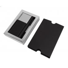 Набор подарочный BLACK GUN: универсальное зарядное устройство (8000мАh) и ручка