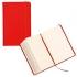 Блокнот для записей, красный, кожа искусственная