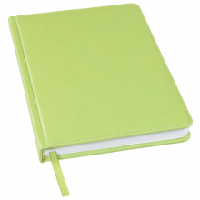 Ежедневник недатированный Bliss, А5,  зеленое яблоко, белый блок, без обреза