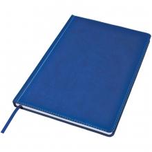 Ежедневник недатированный Bliss, А4,  синий, белый блок, без обреза