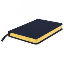 Ежедневник датированный Joy, А5,  темно-синий, белый блок, золотой обрез