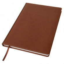 Ежедневник недатированный Bliss, А4,  коричневый, белый блок, без обреза