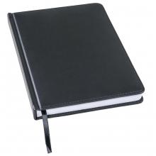 Ежедневник недатированный Bliss, А5,  черный, белый блок, без обреза