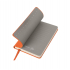 Бизнес-блокнот FUNKY, формат A6, в клетку, оранжевый, серый, pU Velvet