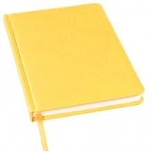 Ежедневник недатированный Bliss, А5,  желтый, белый блок, без обреза