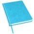 Ежедневник недатированный Bliss, А5,  голубой, белый блок, без обреза, голубой, pu velvet
