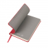 Бизнес-блокнот FUNKY, формат A6, в клетку, красный, серый, pU Velvet