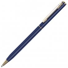 SLIM, ручка шариковая, синий/золотистый, металл