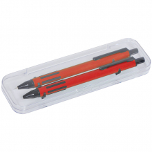 FUTURE, набор ручка и карандаш в прозрачном футляре