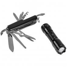 Набор: нож многофункциональный (13 функций) и фонарь в подарочной упаковке