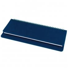 Планинг недатированный Bliss,  темно-синий, белый блок, без обреза