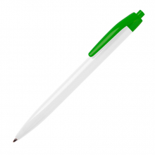 N8, ручка шариковая, белый/зеленый, пластик