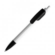 TRIS, ручка шариковая, белый/черный, пластик