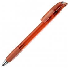 NOVE LX, ручка шариковая с грипом, прозрачный оранжевый/хром, пластик