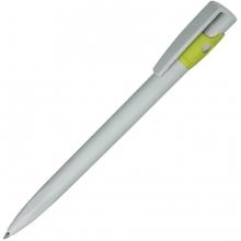 KIKI ECOLINE, ручка шариковая, серый/светло-зеленый, экопластик
