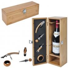 Футляр для бутылки с винными принадлежностями (4 предмета)