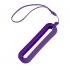 Обложка с ланъярдом к зарядному устройству SEASHELL-1, фиолетовый, силикон, текстиль