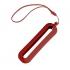 Обложка с ланъярдом к зарядному устройству SEASHELL-1, красный, силикон, текстиль