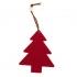 Украшение на елку ЕЛОЧКА, красный, фетр