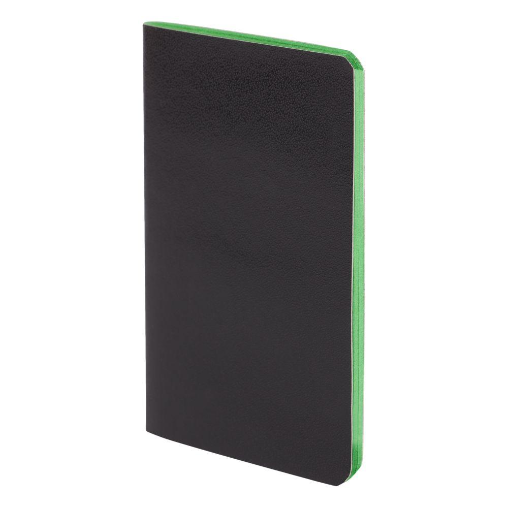 Блокнот Excentrica, черный с зеленым, зеленый, бумага