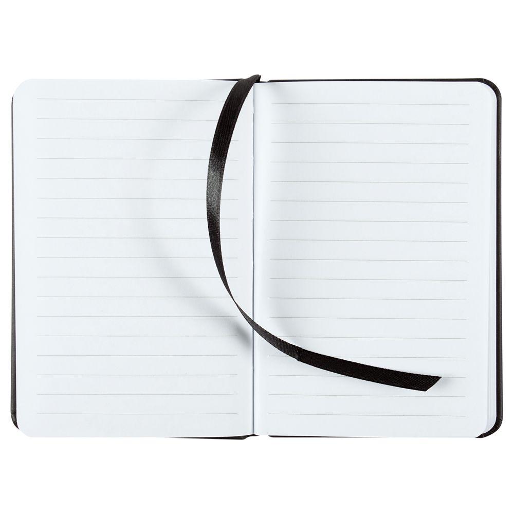 Блокнот Freenote Mini, в линейку, черный, черный, искусственная кожа