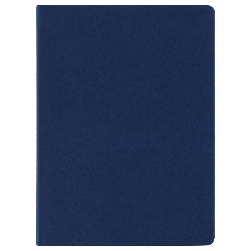 Блокнот Scope, в линейку, синий, синий, искусственная кожа