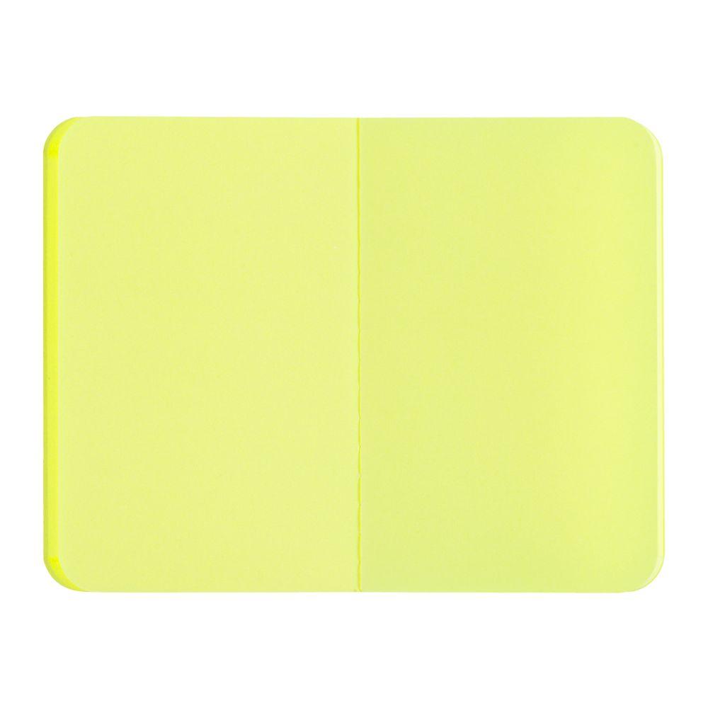 Блокнот Excentrica, черный с желтым, желтый, бумага