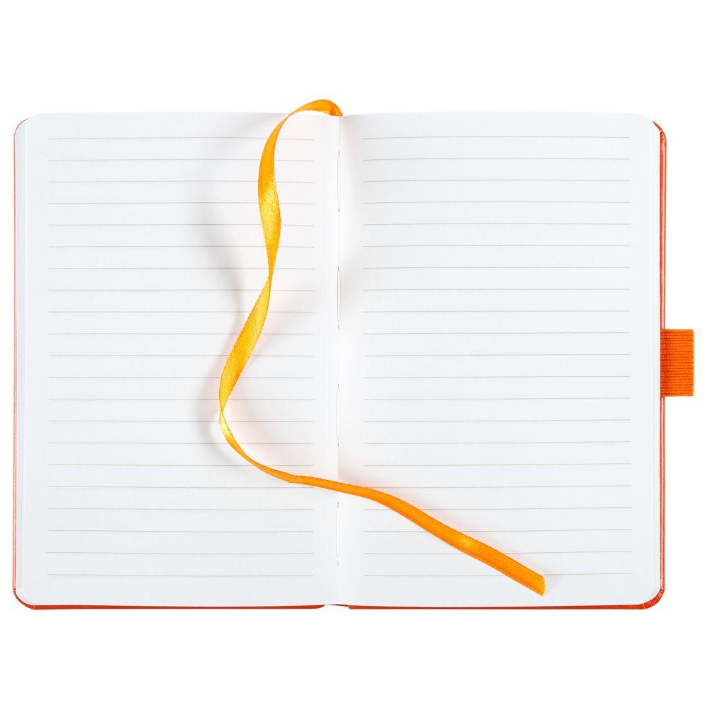 Блокнот Freenote, в линейку, оранжевый, оранжевый, искусственная кожа