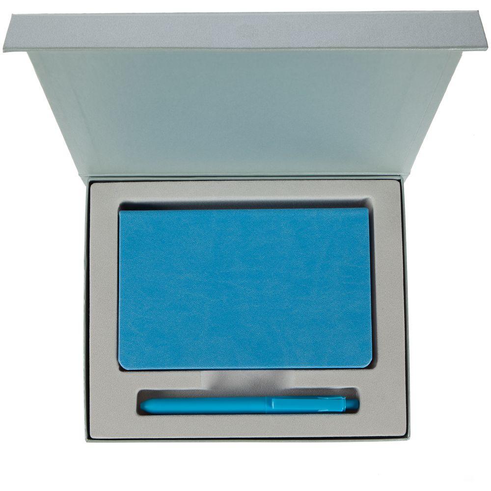 Набор Bright Idea, голубой, , искусственная кожа; пластик; переплетный картон