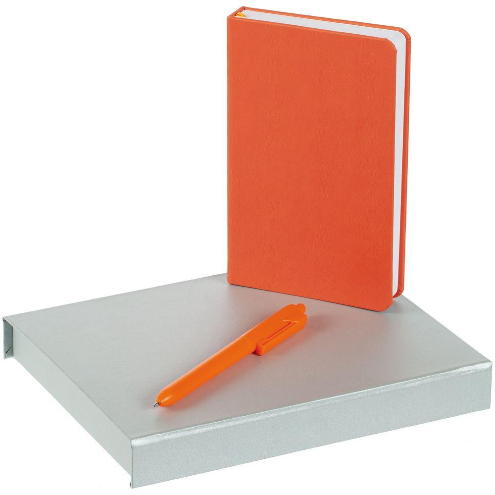 Набор Bright Idea, оранжевый, , искусственная кожа; пластик; переплетный картон