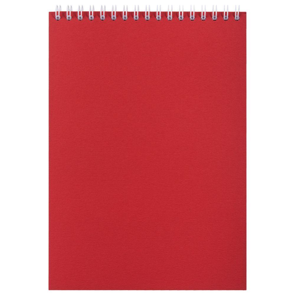 Блокнот Nettuno в клетку, красный, , бумага