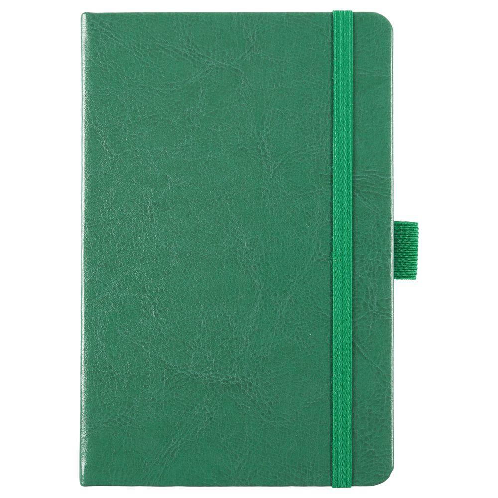 Блокнот Freenote, в линейку, зеленый, зеленый, искусственная кожа