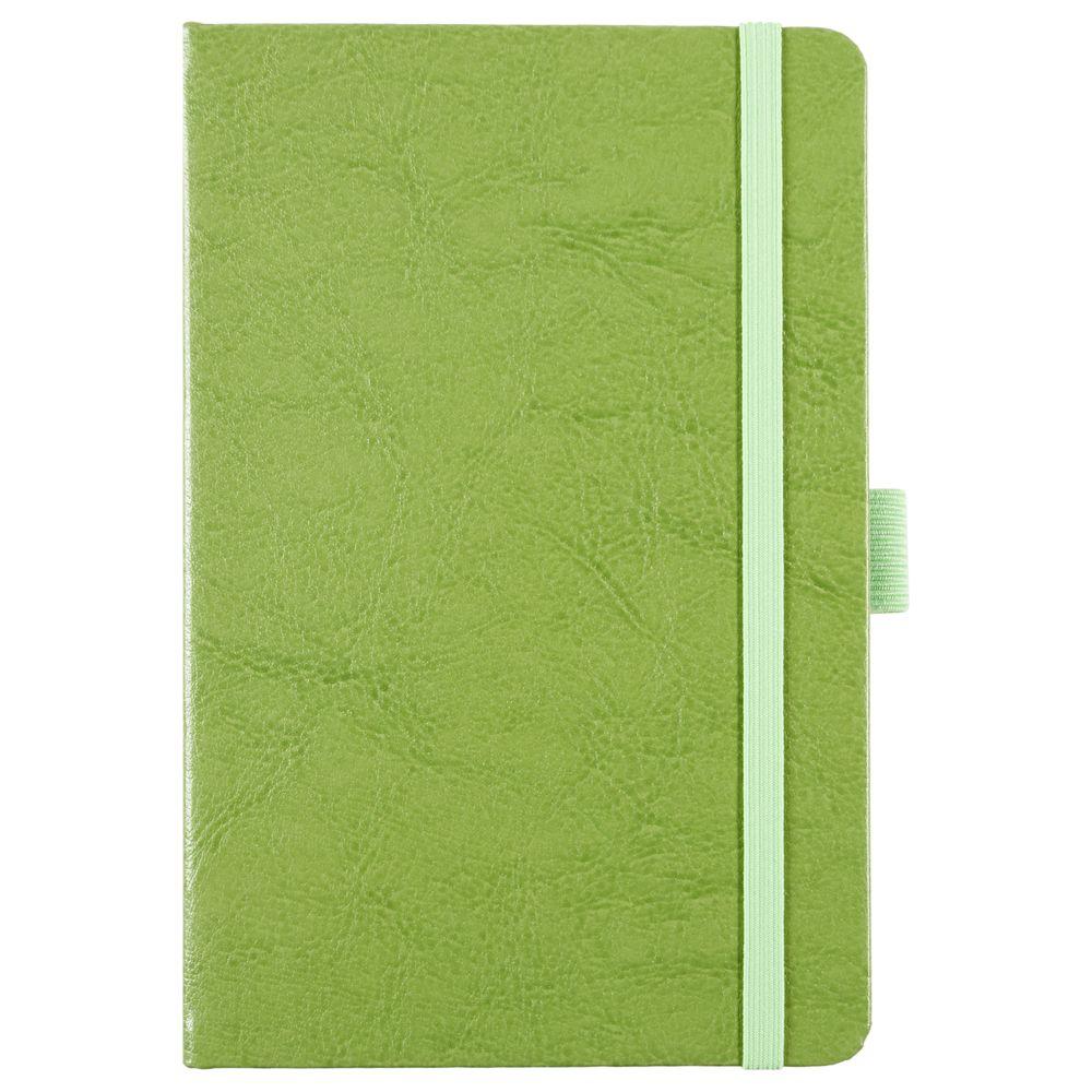 Блокнот Freenote, в линейку, светло-зеленый, зеленый, искусственная кожа
