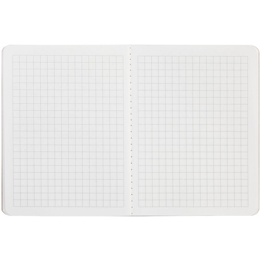 Блокнот Sandy, в клетку, крафт, , картон; бумага