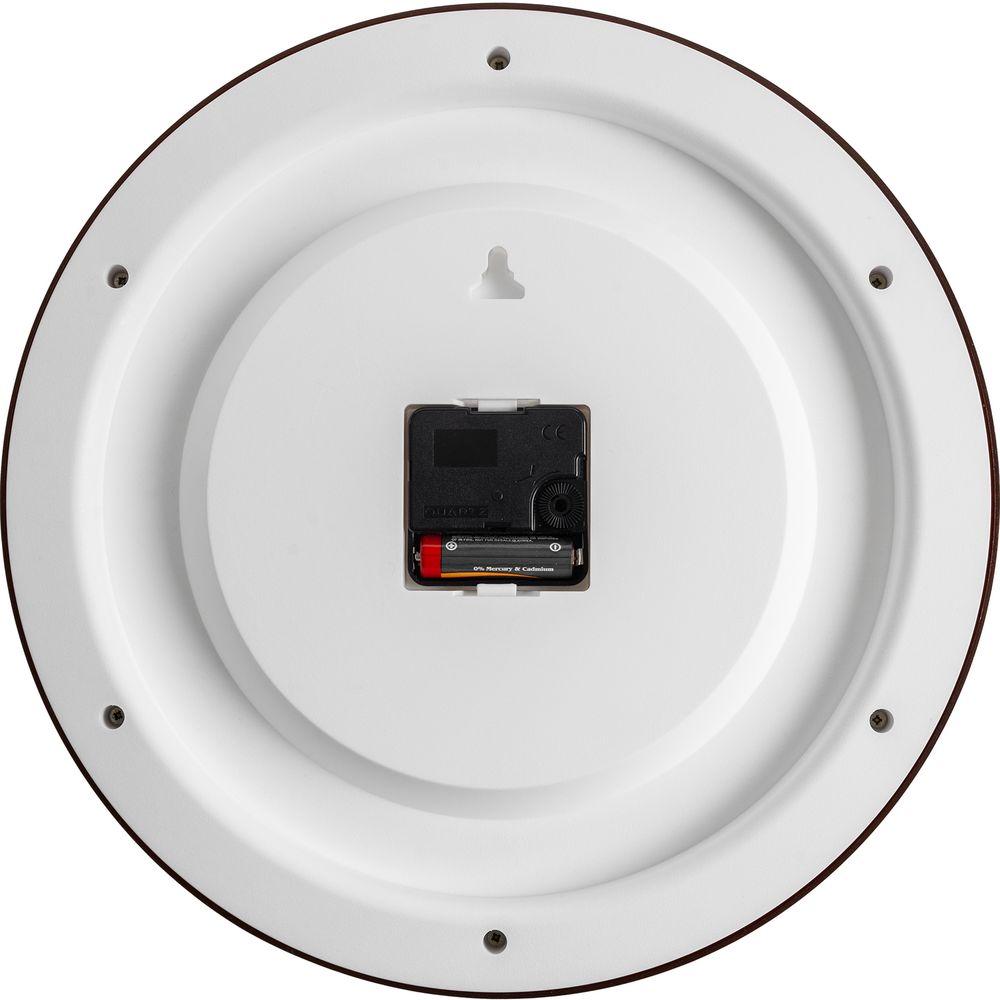 Часы настенные Flat Circle, коричневые, , пластик, минеральное стекло