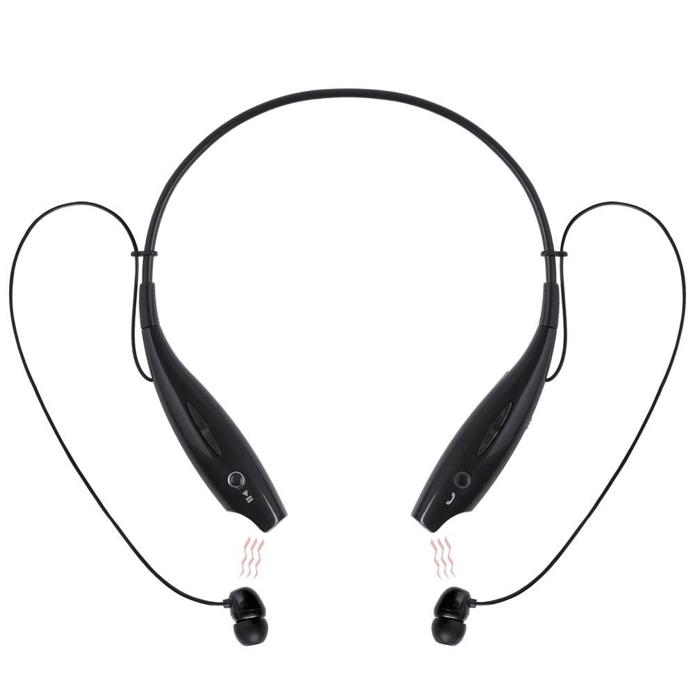 Bluetooth наушники stereoBand, черные, черный, пластик