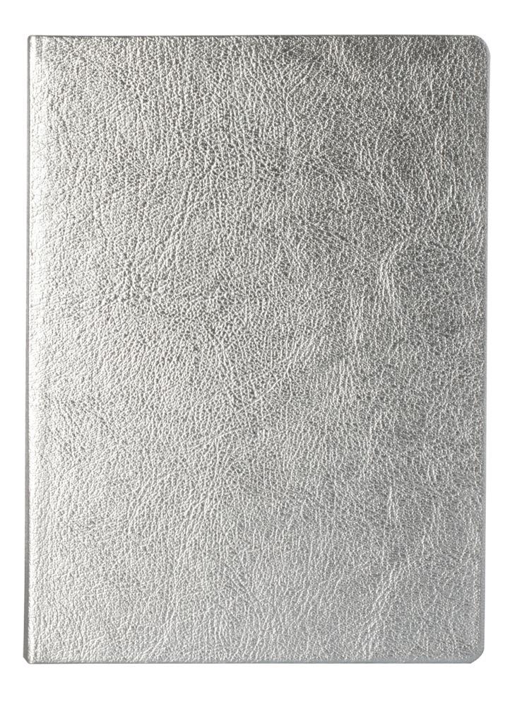 Блокнот Ingot, серебристый, , искусственная кожа