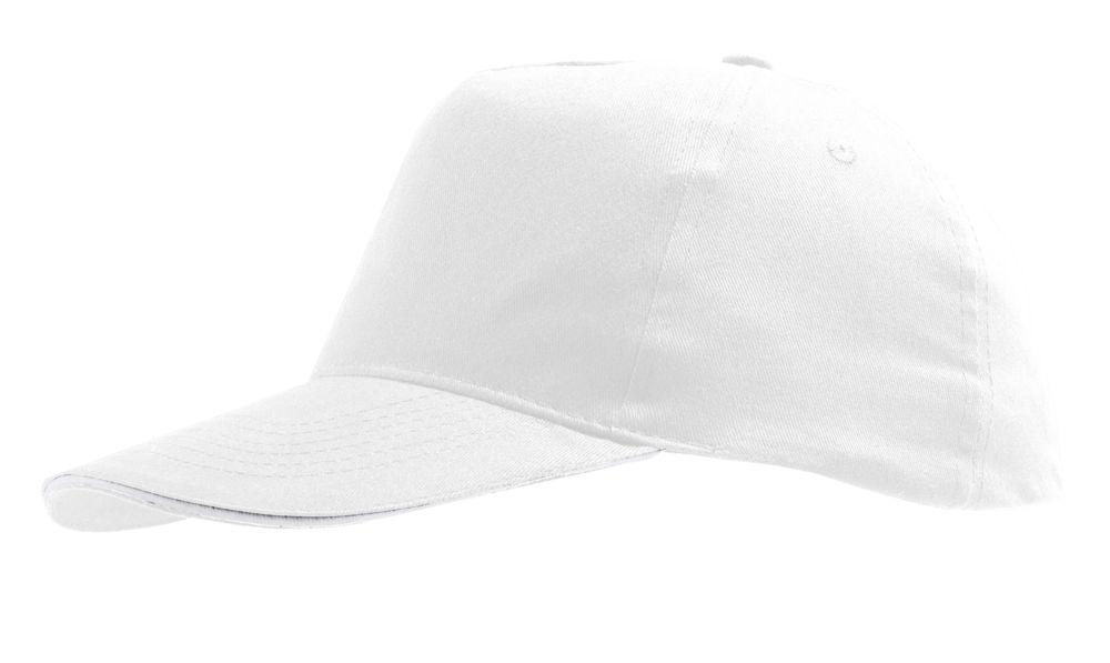 Бейсболка SUNNY, белая, , хлопок 100%, плотность 180 г/м²